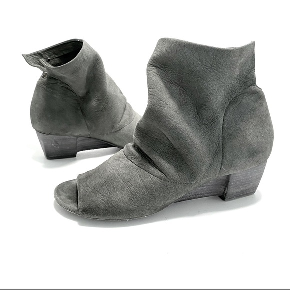 Marsell. Suede open toe ankle booties